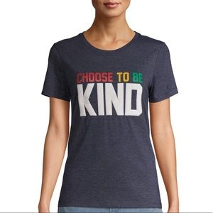 BNWT EV1 choose to be kind blue graphic shirt